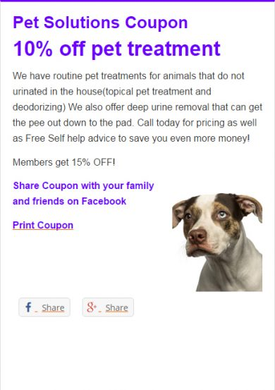 Pet Solutions Coupon